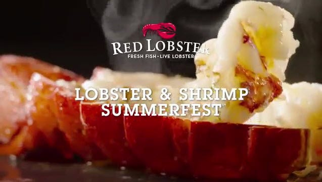 Summerfest is suing Red Lobster over a slogan (above) being used in advertisements.