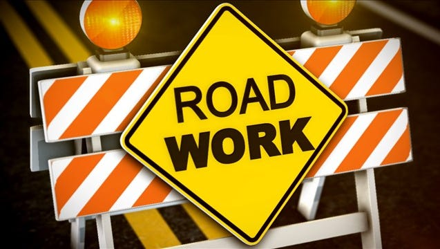 A section of McNeil Avenue south of Call Field Road is closed through Saturday due to a water leak and road repairs.