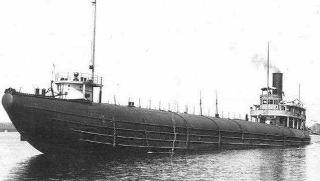 The S.S. Clifton, formerly the Samuel Mather, was built in 1892. She was a 308-foot keel, 30-foot beam and 24-foot depth. Her capacity was 3,500 tons.