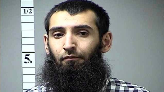 This undated photo provided by St. Charles County Department of Corrections via KMOV shows the Sayfullo Saipov. A man in a rented pickup truck mowed down pedestrians and cyclists along a busy bike path near the World Trade Center memorial on Oct. 31, 2017, killing several. Officials who were not authorized to discuss the investigation and spoke on the condition of anonymity identified the attacker Saipov.