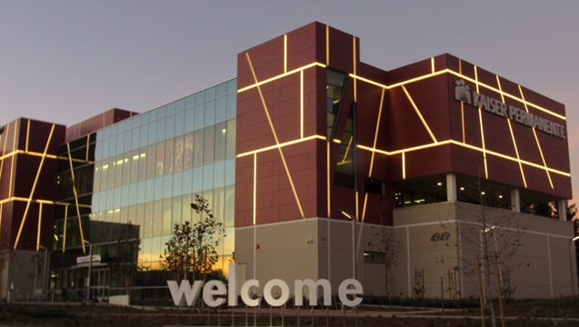 A physician leader at a new Kaiser complex in Ventura said the lighted exterior is designed to complement the technology and innovation inside the building.