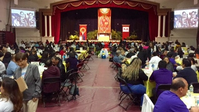 Hundreds of Catholic school teachers, administrators and staff gather at the 2018 Catholic Educators' Conference Friday morning at Father Duenas Memorial School in Mangilao, wrapping up the Jan. 29 to Feb. 2 observance of Catholic Schools Week.