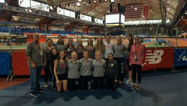 The Lakeland Regional High School girls' indoor track team captured the Big North-Independence title last week at the Armory in New York City. It's the Lancers' first conference title since 2013.
