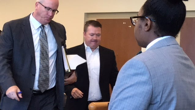 A trial is scheduled March 12 for Adam Costello, center, charged in a case involving the June 2016 fatal hit-and-run of Adam King, 19. He also was accused of tampering with evidence.