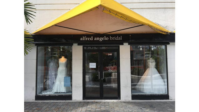 The Alfred Angelo bridal store in Baton Rouge closed abruptly last summer.