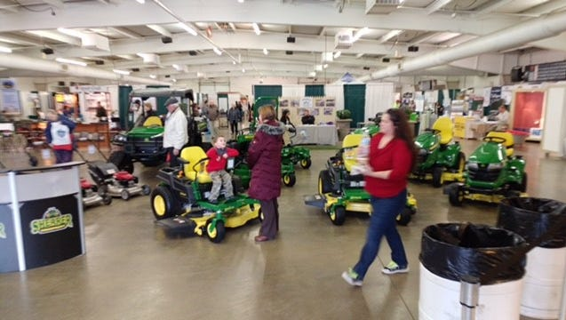 The Mansfield Noon Optimist Club's 47th annual Mid-Ohio Home Show is held annually at the Richland County Fairgrounds. Here, people attend a previous home show.