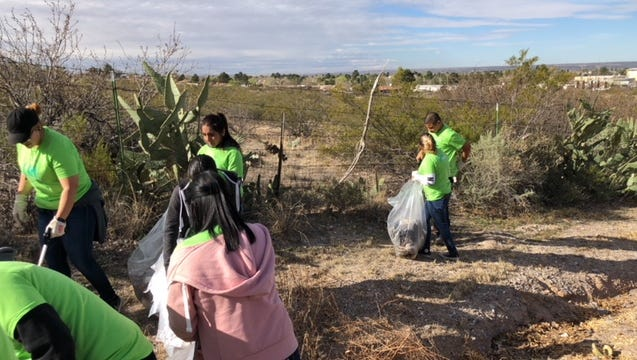 The city of Anthony and Doña Ana County joined to host a cleanup in the city of Anthony, N.M., on March 17, 2018.