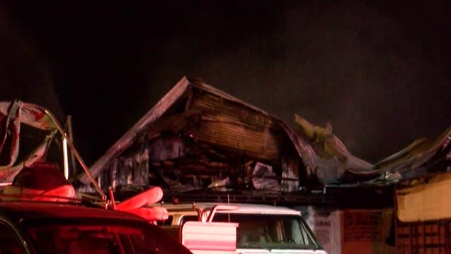Two horses died in a barn fire that happened Thursday afternoon in Lafayette.