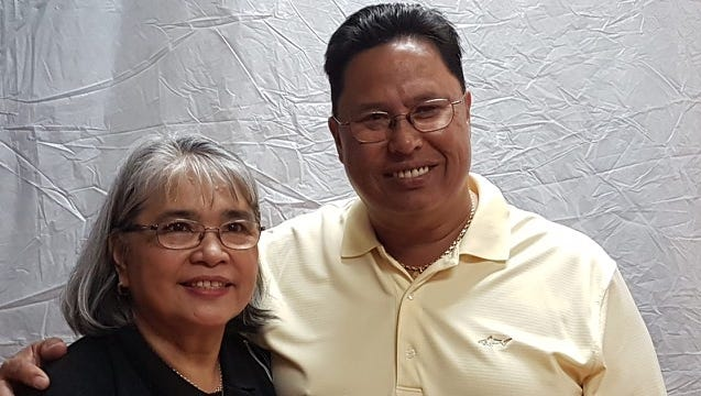 From left: Patricia Roberto and Jim Pinaula