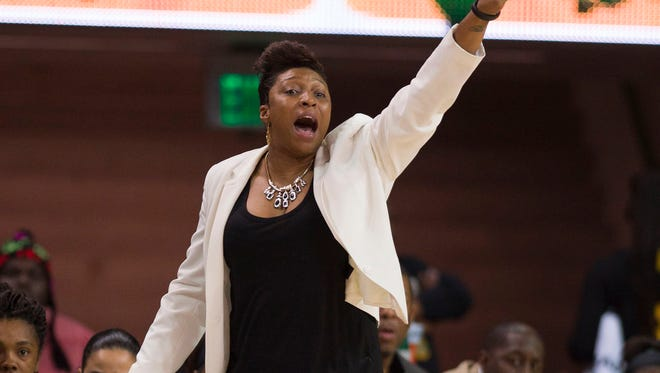 Grambling women's basketball coach Nadine Domond led the Lady Tigers to a 17-14 mark in 2016.