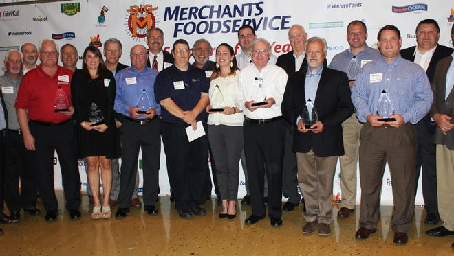 Merchants Foodservice presented Supplier of the Year awards to 14 business partners during an awards banquet and appreciation reception Oct. 24 at Lake Terrace Convention Center in Hattiesburg.