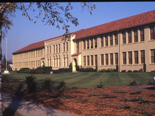 Parrish Middle School is seen in 1972.