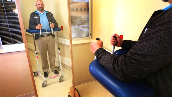 Mike Goeldner had a stroke five years ago at age 31. He is now training for an Iron Man event in Cozumel, Mexico, in November. Goeldner did his rehabilitation work at Las Palmas Medical Center.