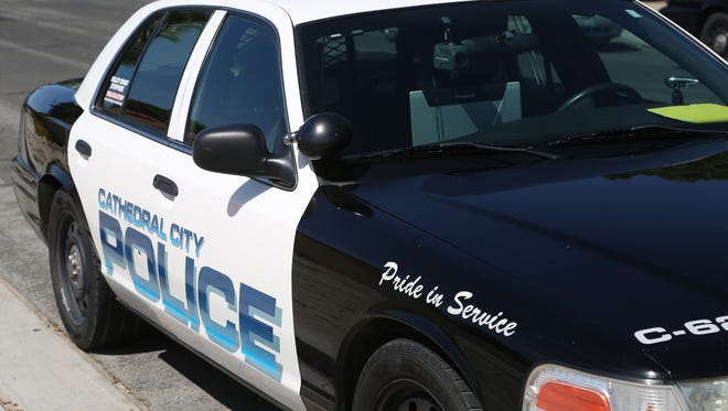 Cathedral City police responded to a call of a strong arm robbery Monday afternoon.