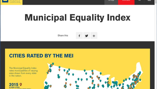 The Human Rights Campaign's Municipal Equality Index report is available at http://www.hrc.org/campaigns/municipal-equality-index.