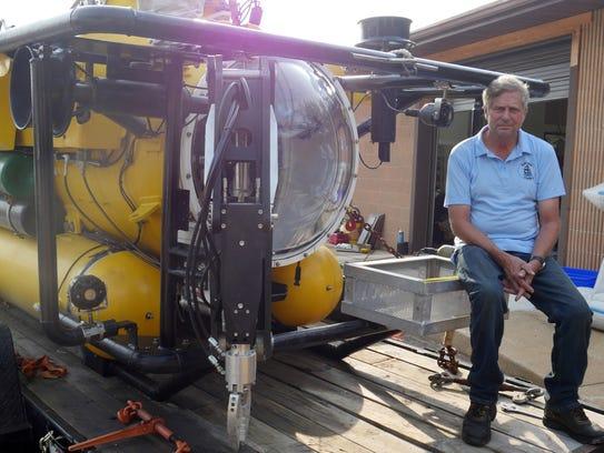Greg Busch, owner of Busch Marine, has a submarine