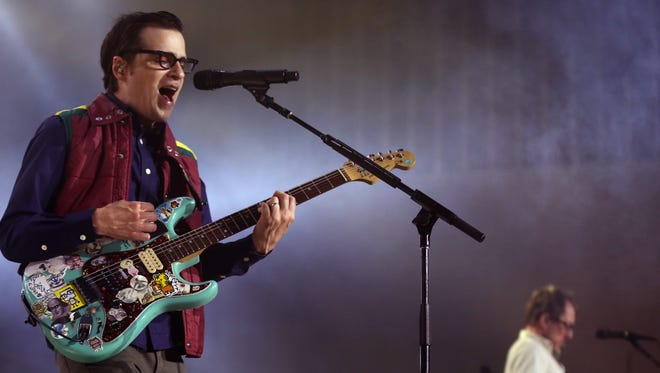 Weezer is performing for their fans at the Ascend Amphitheater July 13, 2016.