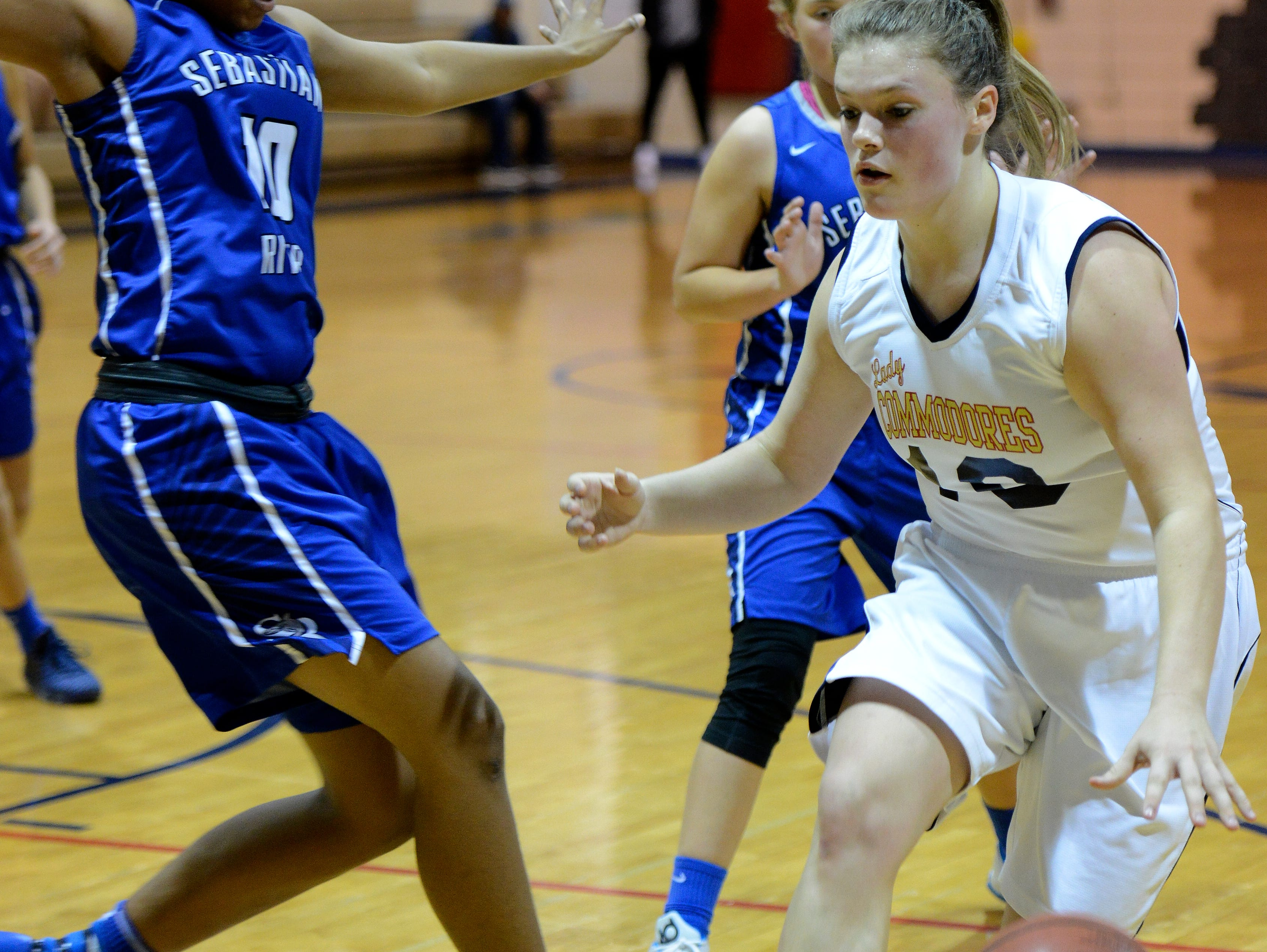 Sammie Streeter of Eau Gallie, pictured during a January game, averaged 18.5 points.