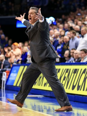 Kentucky's John Calipari was livid during part of the the 61-59 loss to Tennessee Feb. 6, 2018. 'I should have called a timeout,' Calipari said afterwards in the waning moments of the second half. 'This one is on me.'