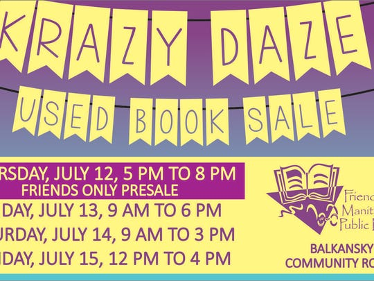 Manitowoc Public Library's Krazy Daze Used Book Sale