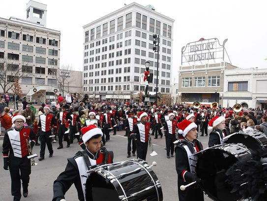 The Downtown Springfield Christmas parade happens Saturday. It features about 60 entries.