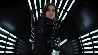 Felicity Jones and the other stars of 'Rogue One' are hitting the red carpet on Saturday's world premiere in Hollywood.