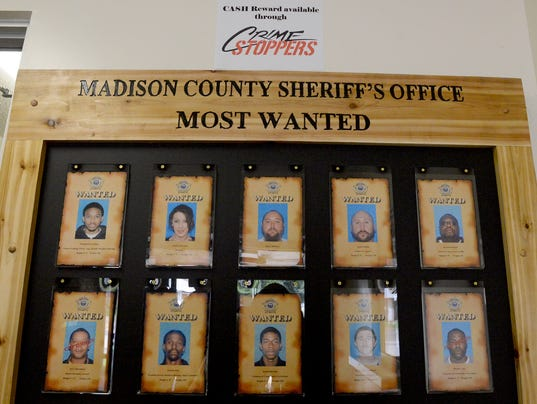 10 Most Wanted posted at Sheriff's Office