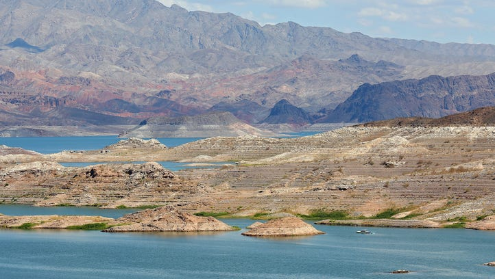 The levels of Lake Mead, near Las Vegas, have declined