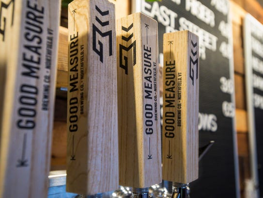 Tap handles at Good Measure Brewing Company in Northfield