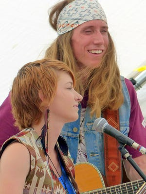 Jhett and Callie Schiavone of Gleewood perform at one of the many festivals they've participated in this past year.