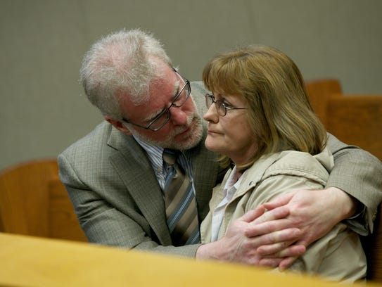 Left, James and Peggy Pappas, the parents of Kimberly