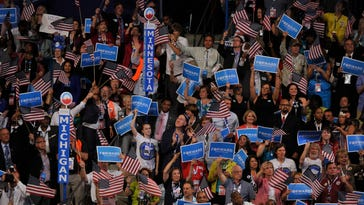 Scenes from the 2012 Democratic National Convention in Charlotte.