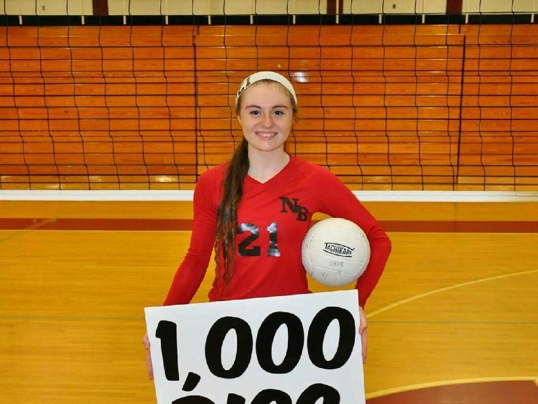 North Buncombe volleyball player Morgan Ballard. The Black Hawks will host their youth camp next month.