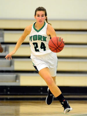 York College junior forward Sam Hruz has been named to the D3hoops.com All-Mid-Atlantic regional team.