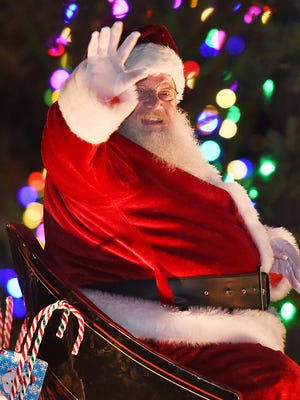 Georgetown held its annual Christmas Parade on Thursday, Dec. 7, 2017 with Santa arriving on the Circle in a sleigh towed by reindeer.
