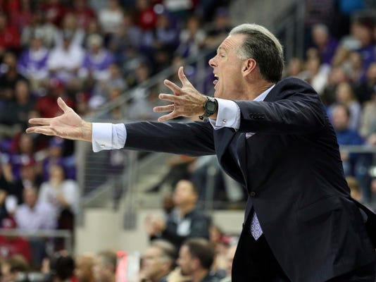 TCU head coach Jamie Dixon reacts during an NCAA college basketball game against Oklahoma Saturday, Dec. 30, 2017, in Fort Worth, Texas. (AP Photo/ Richard W. Rodriguez)
