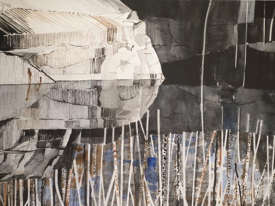 To Cullins' 'Barre Quarry Series 8' 2013, watercolor.