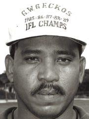 Loring Cruz Sport: Football, coach Team: George Washington Geckos Photo archive date Aug. 29, 1990.