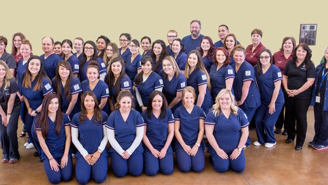 Students from the New Mexico State University Carlsbad nursing program.