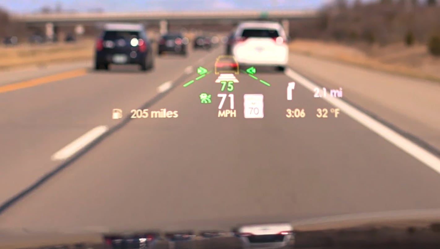Head S Up Ford S Lincoln Unit Improves Head Up Displays