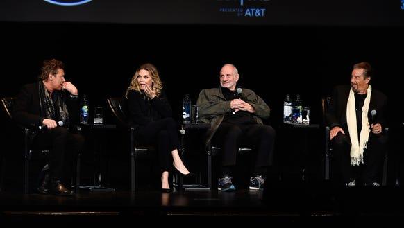 Steven Bauer, Michelle Pfeiffer, director Brian De