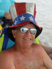 Uncle Sam, aka Ed Porter, enjoys July 4 on Marco Island.