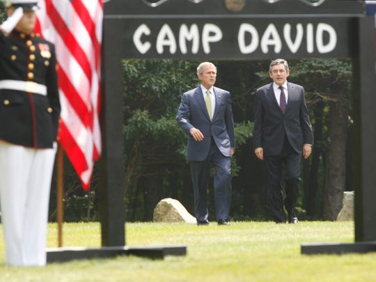 President George W. Bush and British Prime Minister