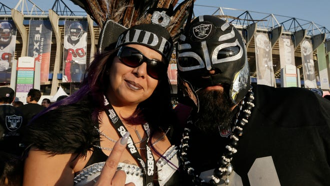 Raider Nation flocked to Mexico City for Monday night's game against the Texans.