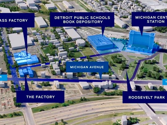 Ford Motor Company owns the Brass Factory, the Factory, Detroit Public Schools Book Depository and the Michigan Central Station in the neighborhood known as Corktown in Detroit.