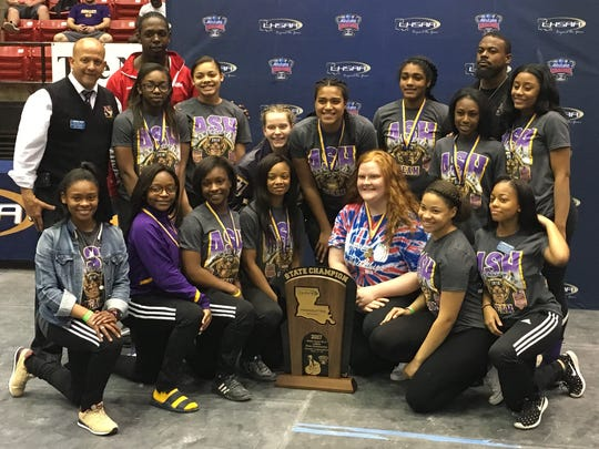 The ASH Lady Trojans won the Division I title for the