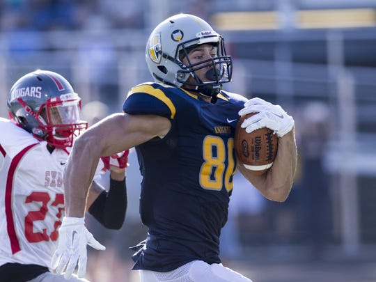 Krishawn Hogan scored three touchdowns in No. 1 Marian's