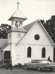 All Saints' Episcopal Church in the 1950s.