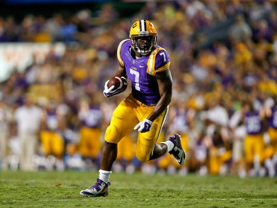 LSU running back Leonard Fournette