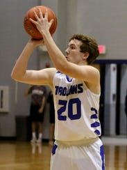 Windthorst's Cy Belcher shoots from three-point range